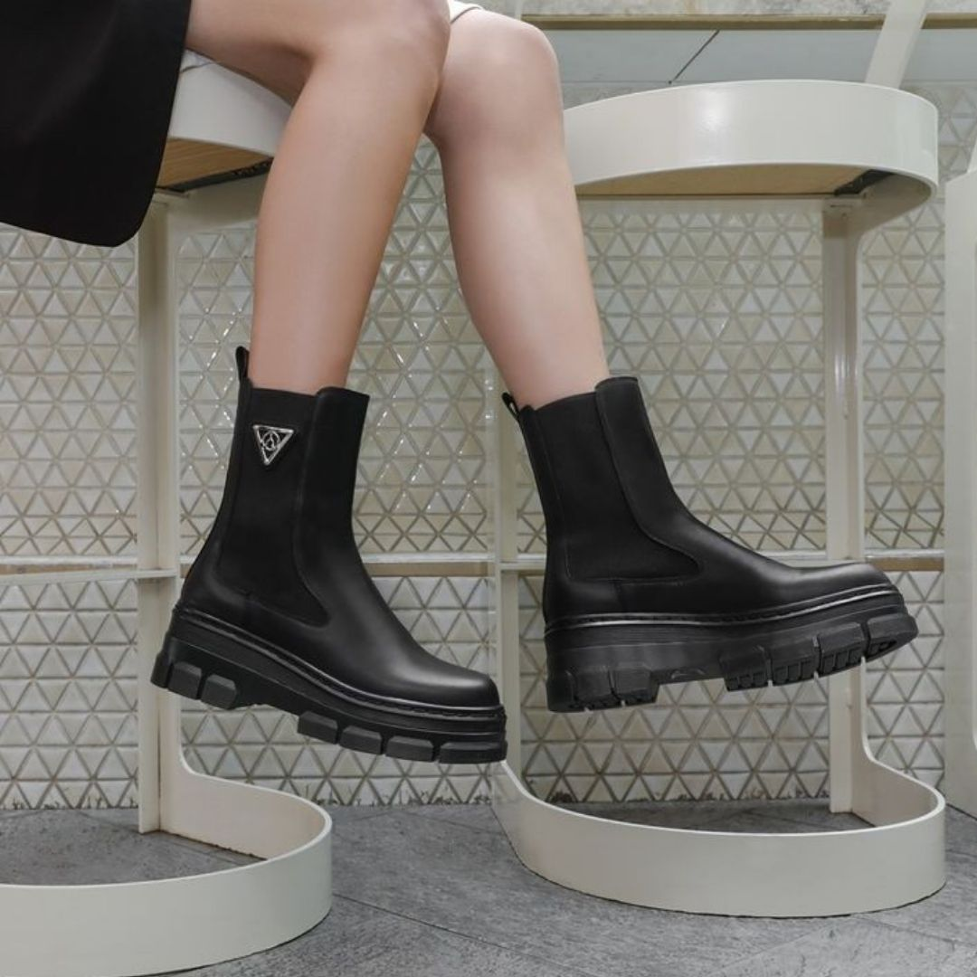 Black booties from Browns