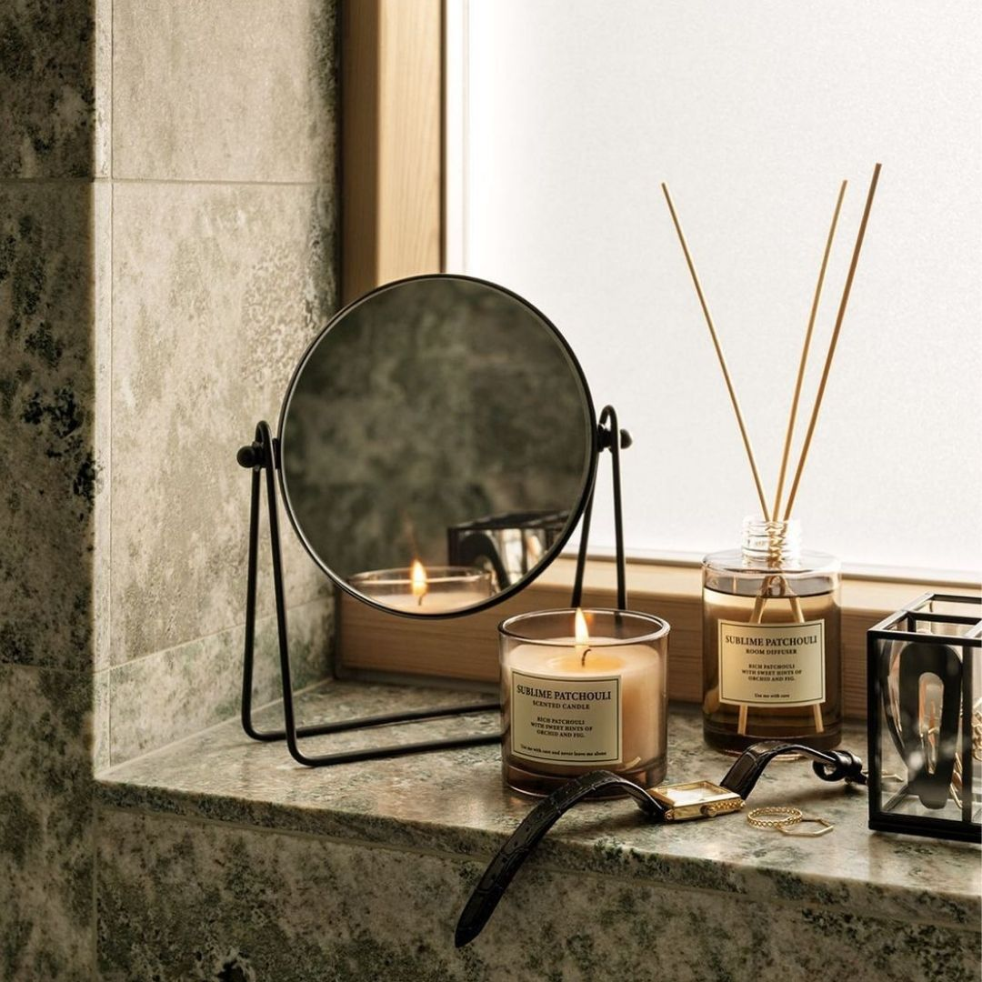 Candles and diffuser