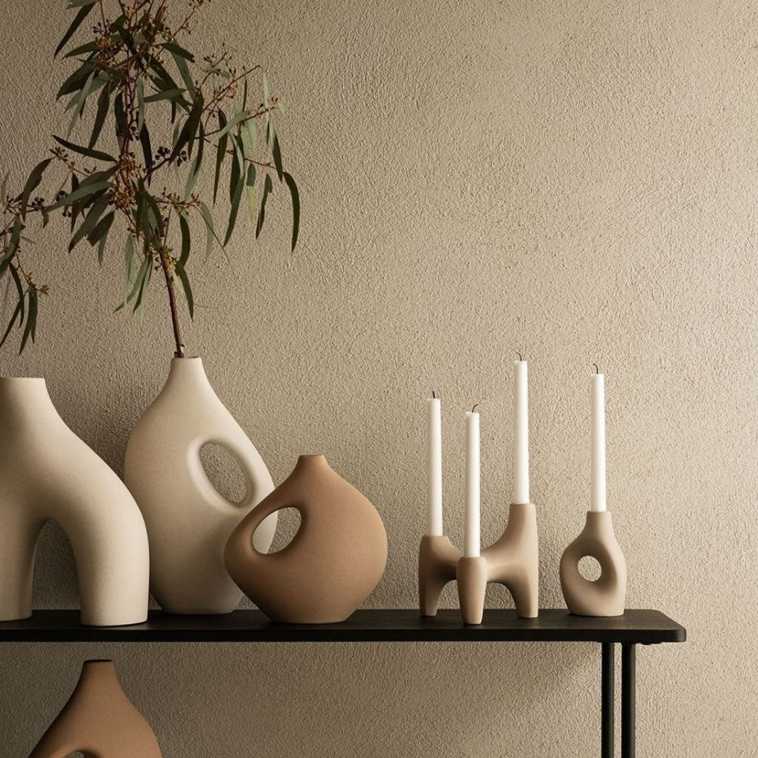 Artistic candle holders from H&M